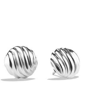 David Yurman Jewelry - David Yurman Sculpted Cable silver earrings